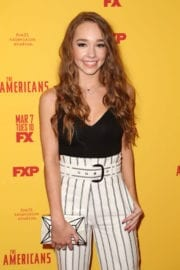 Holly Taylor Stills at The Americans Season 5 Premiere in New York City