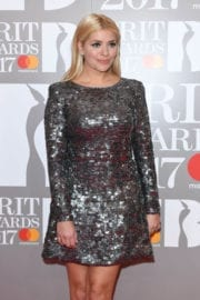 Holly Willoughby Stills at Brit Awards 2017 in London