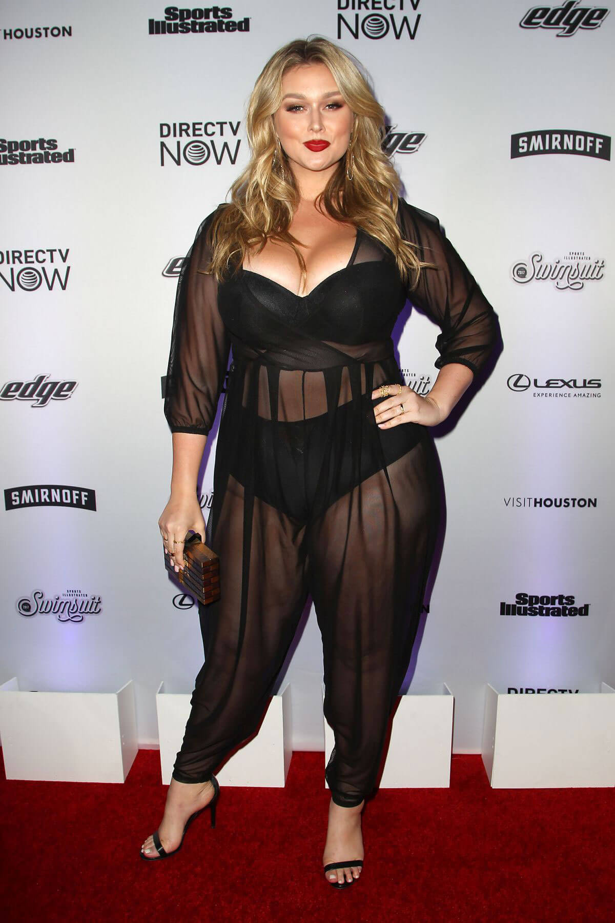 Hunter McGrady Stills at Sports Illustrated Swimsuit Edition Launch in New York