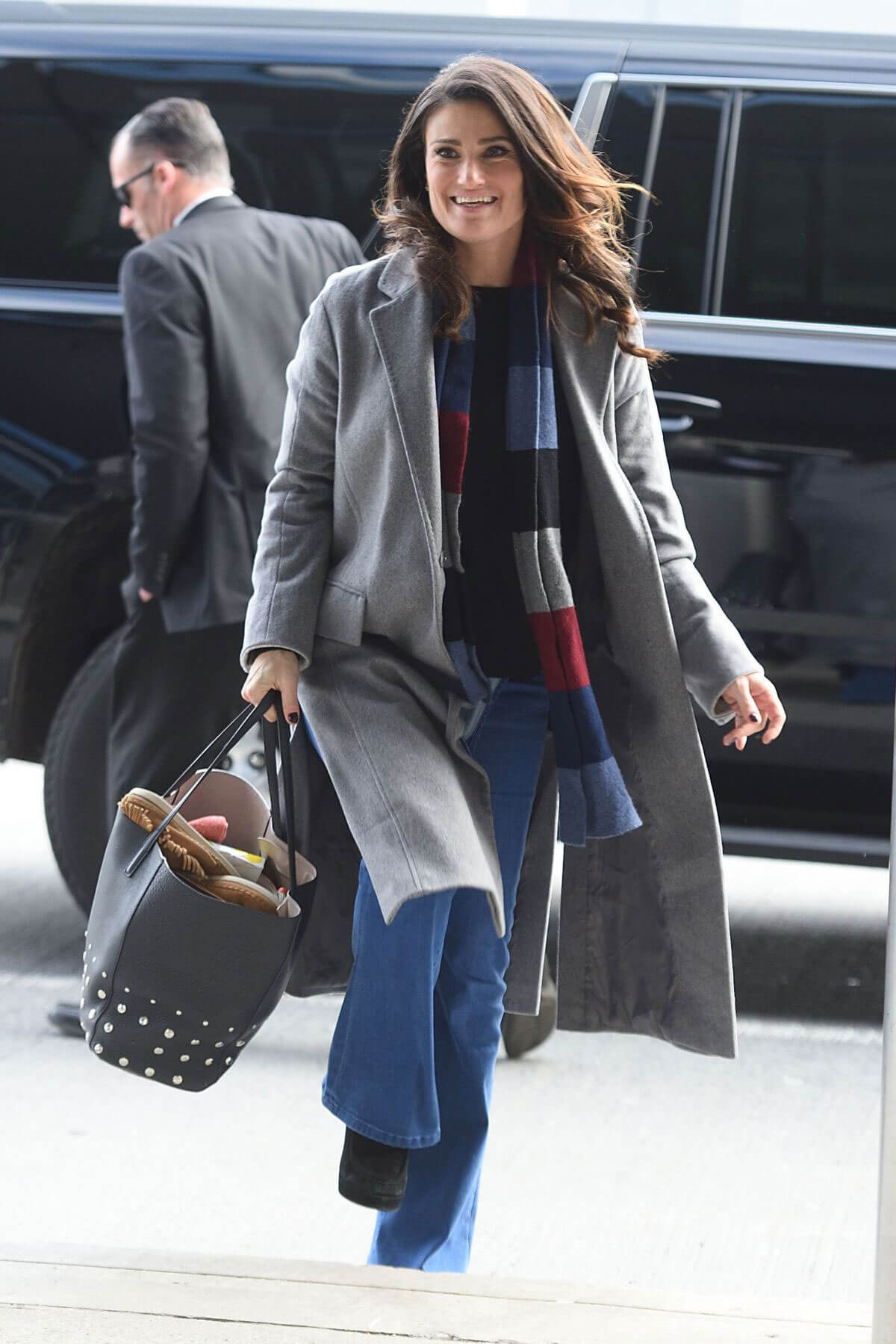 Idina Menzel at Jfk Airport in New York
