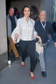 Idina Menzel Leaves Today Show in New York