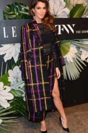 Iris Mittenaere at ELLE, E! and Img New York Fashion Week Kick-off Party in New York