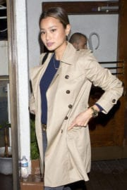 Jamie Chung Stills Leaves Madeo Restaurant in West Hollywood
