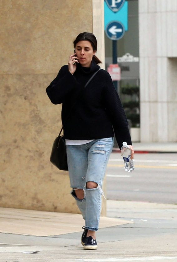Jamie-Lynn Sigler Stills in Ripped Jeans Out in Los Angeles
