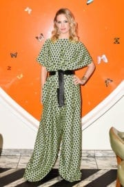 January Jones at Tome Dinner Celebrating White Shirt Project and Freedom for All Foundation in Los Angeles