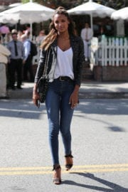 Jasmine Tookes Stills Out for Lunch at The Ivy in West Hollywood