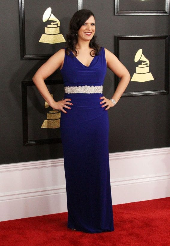 Jeanne Montalvo at 59th Annual Grammy Awards in Los Angeles