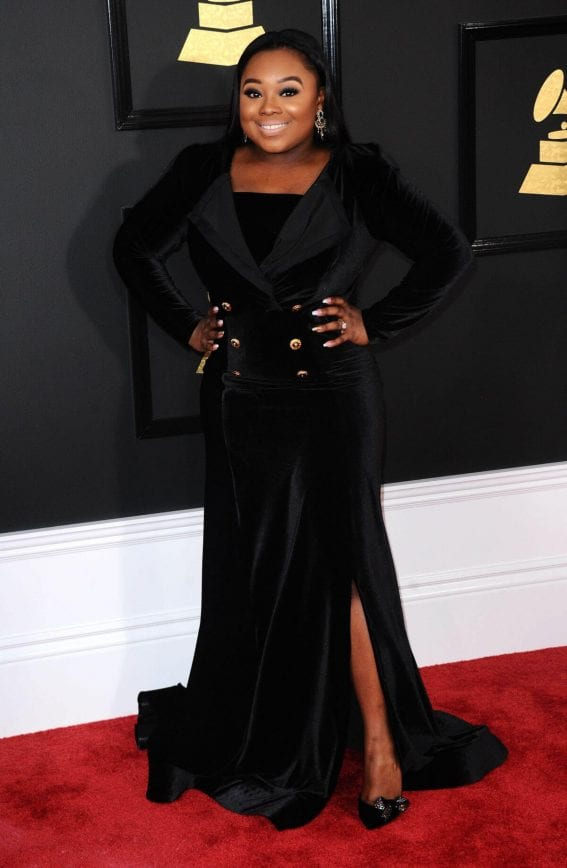 Jekalyn Carr at 59th Annual Grammy Awards in Los Angeles