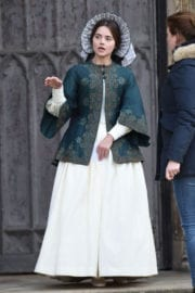 """Jenna Coleman Stills on the Set of """"Victoria"""" in East Yorkshire"""