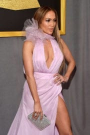 Jennifer Lopez at The 59th Grammy Awards in Los Angeles