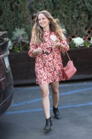 Jennifer Meyer Stills Out for Lunch at Il Pastaio in Beverly Hills