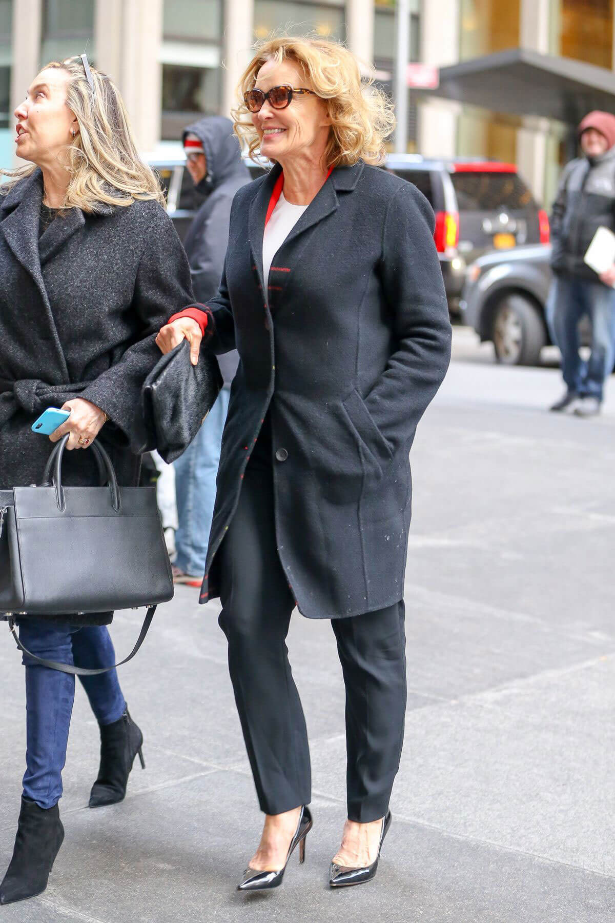 Jessica Lange Arrives at SiriusXM Studios in New York