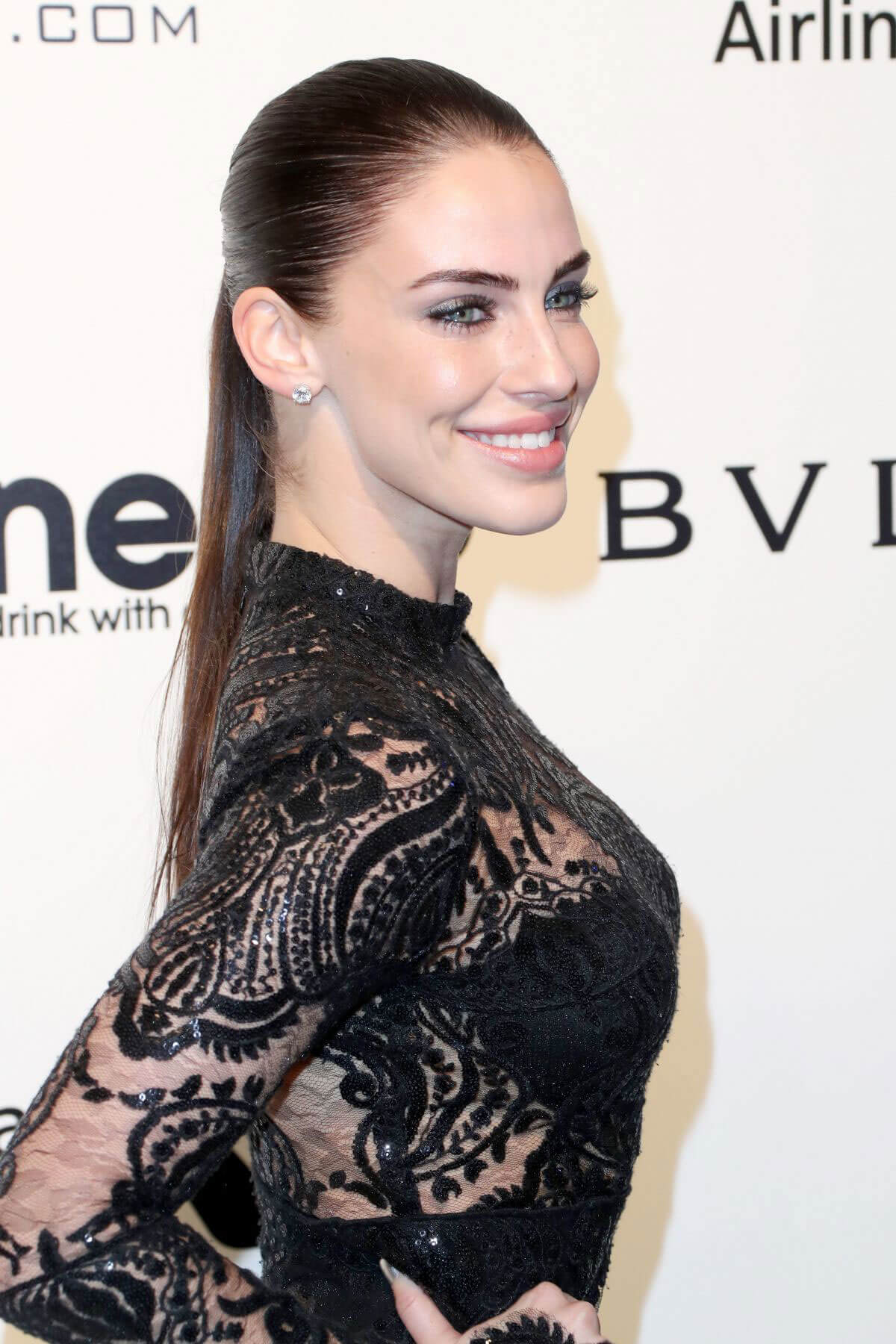 Jessica Lowndes Photos at 25th Annual Elton John Aids Foundation's Oscar Party