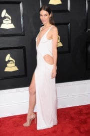 Jessica Miller at 59th Annual Grammy Awards in Los Angeles