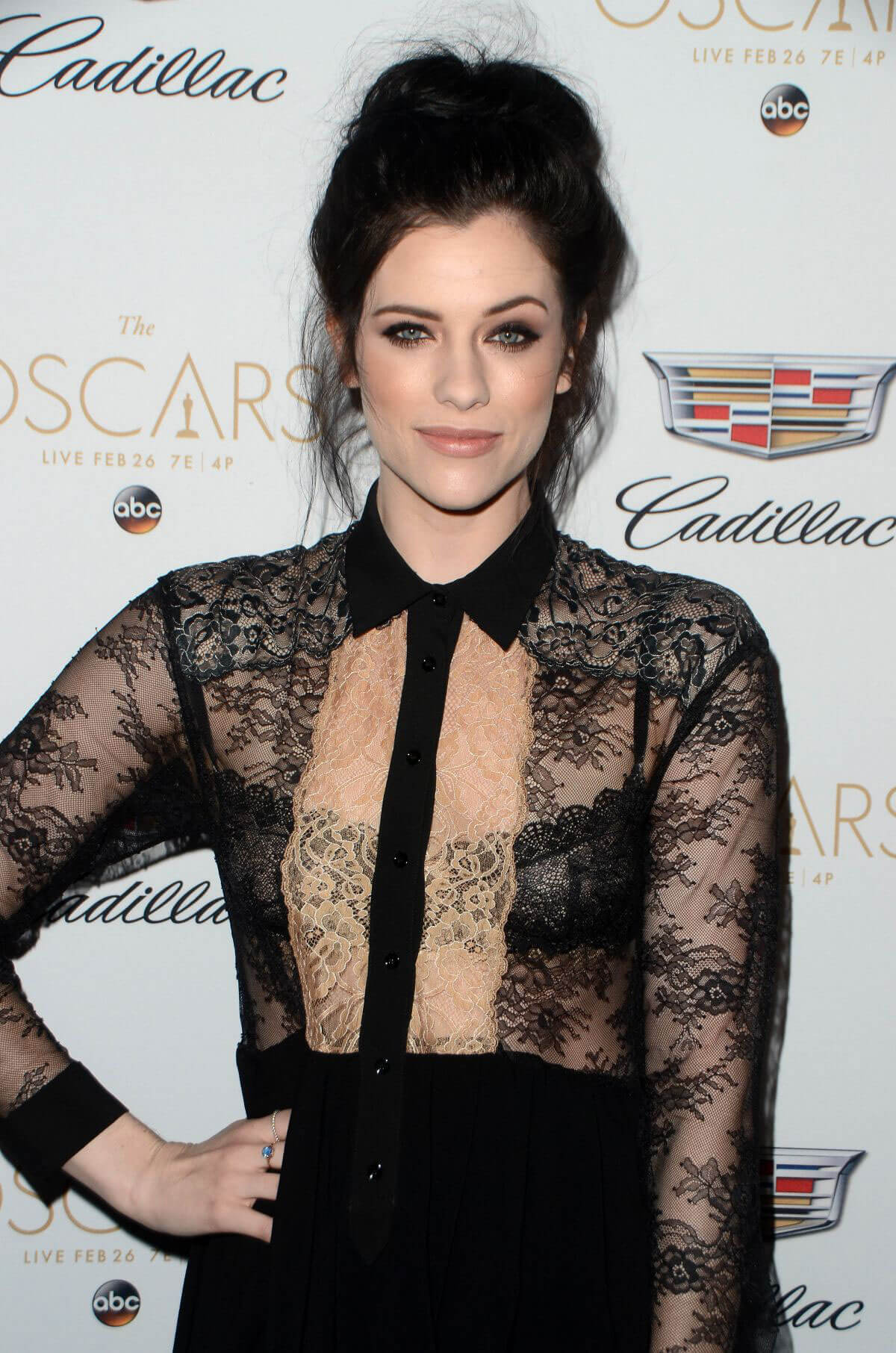Jessica Paré Stills at Cadillac's 89th Annual Academy Awards Celebration