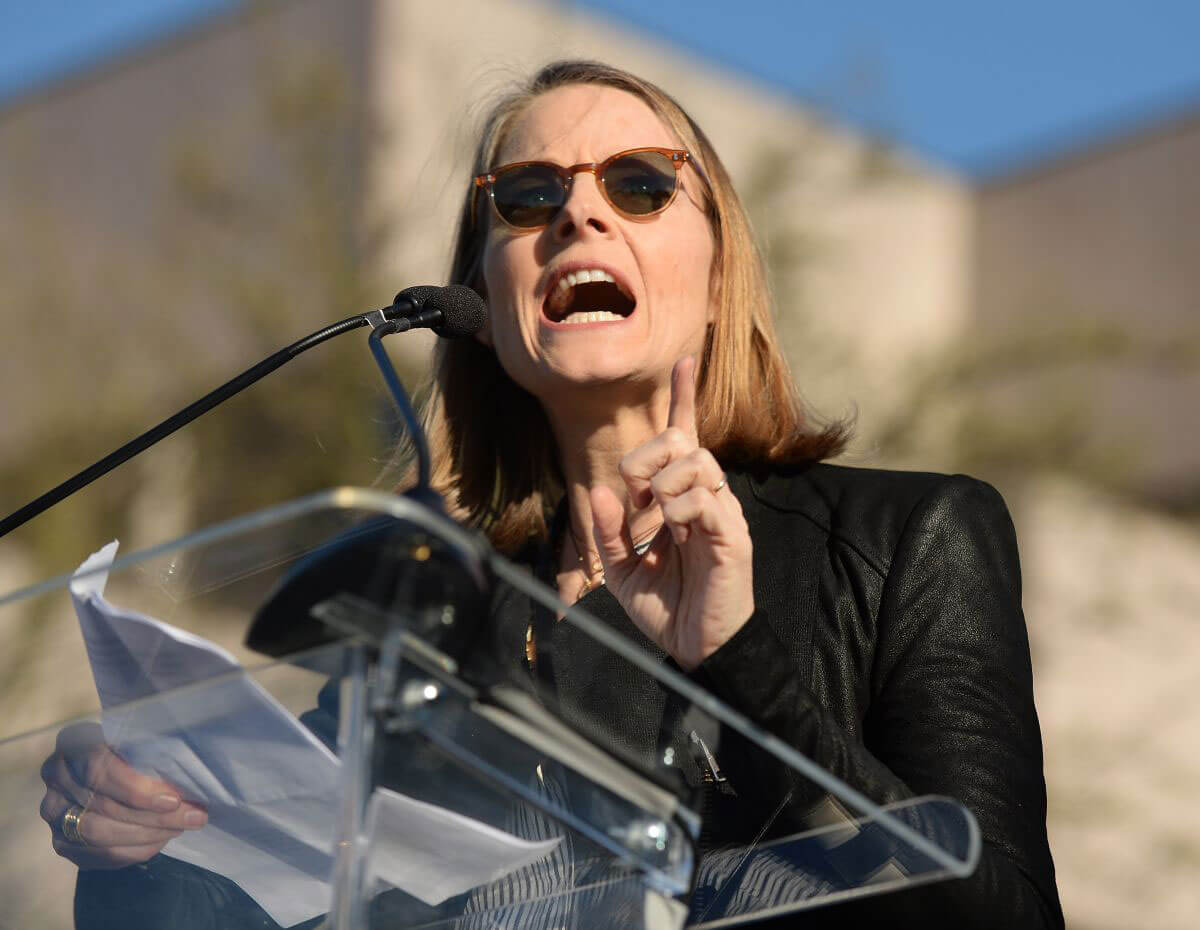 Jodie Foster Stills Speaks at United Voices Rally against Trump's Immigration Ban