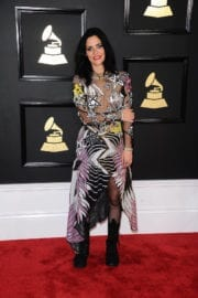 Juliette Larthe at 59th Annual Grammy Awards in Los Angeles