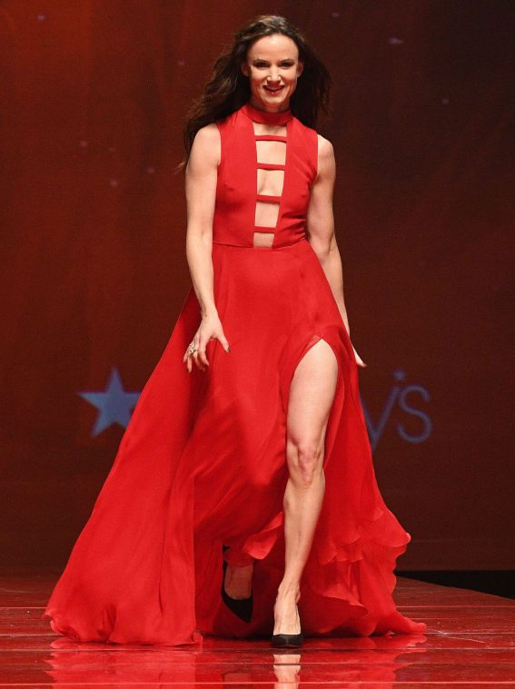 Juliette Lewis at American Heart Association's Go Red for Women Red Dress