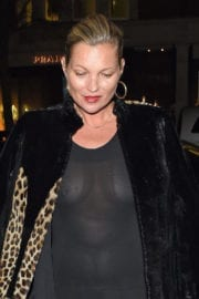 Kate Moss Stills Night Out in London