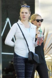 Kate Upton Stills in Leggings Out in Los Angeles