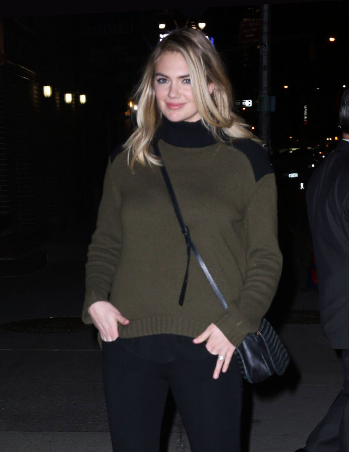 Kate Upton Stills Leaves Late Show with Stephen Colbert in New York