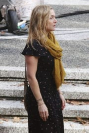 """Kate Winslet Stills on the Set of """"The Mountain Between Us"""" in Vancouver"""