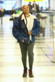 Keke Palmer at JFK Airport in New York