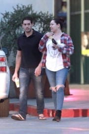 Kelly Brook and Jeremy Parisi Stills Out in Koreatown in Los Angeles