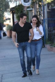Kelly Brook and Jeremy Parisi Stills Out in West Hollywood