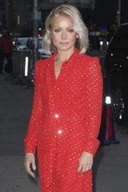 Kelly Ripa Stills at The Late Show With Stephen Colbert in New York
