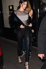 Kendall Jenner Night Out in Paris