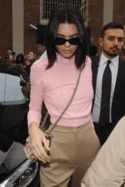 Kendall Jenner Stills Out in Milan Photos