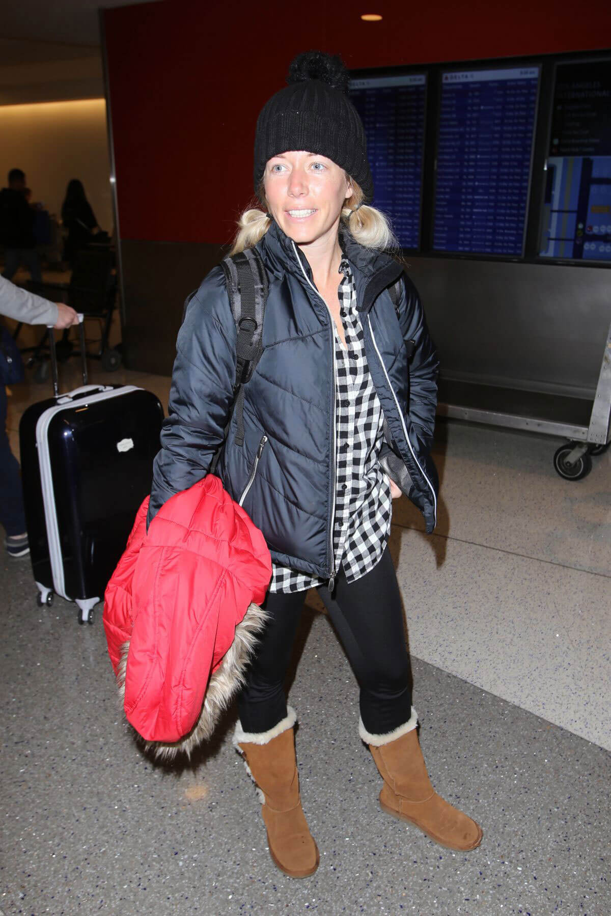Kendra Wilkinson at LAX Airport in Los Angeles