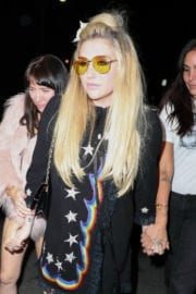 Kesha Sebert Arrives at CAA Pre-Grammy Party in West Hollywood