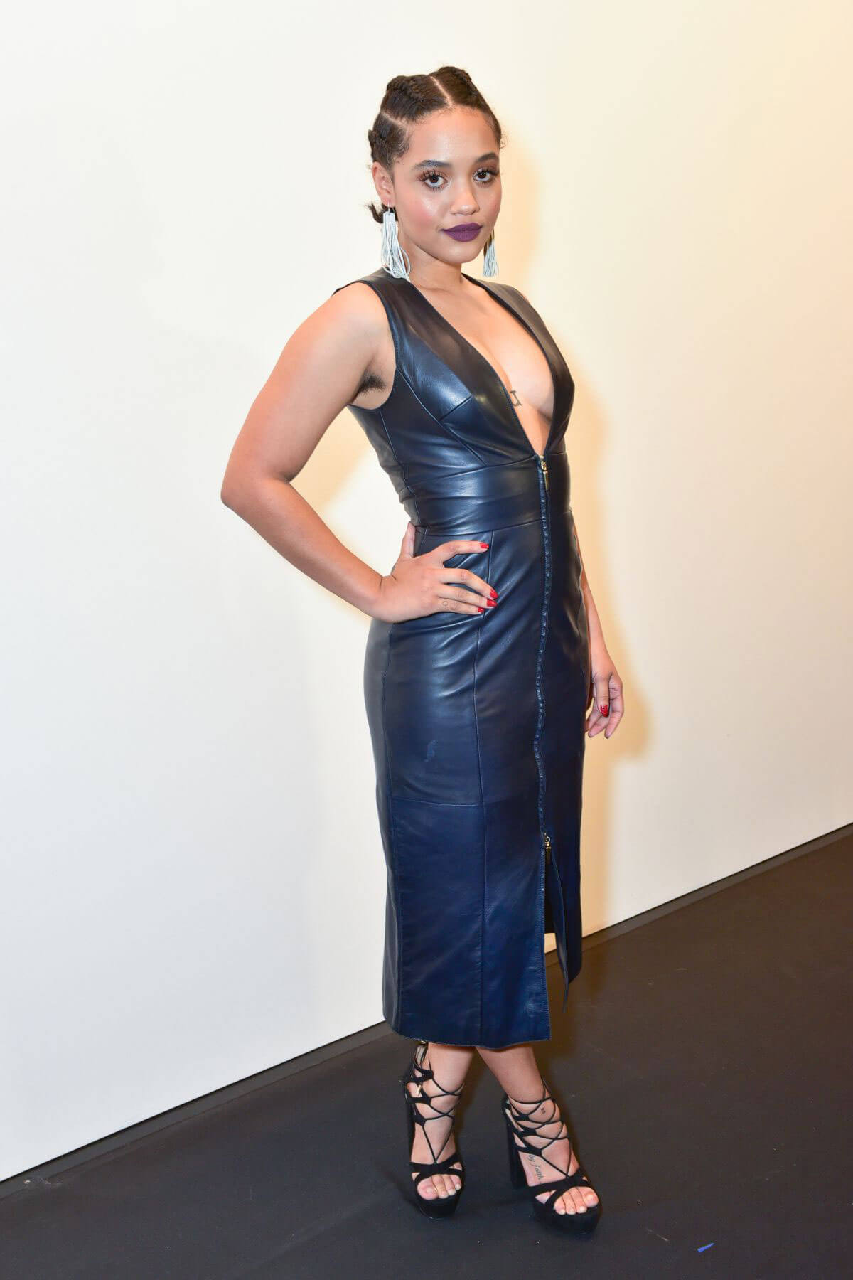 Kiersey Clemons at Prabal Gurung Fashion Show at NYFW in New York