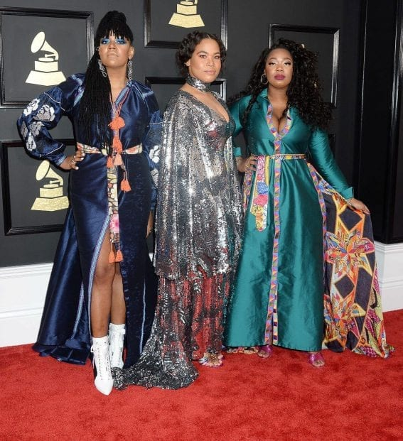 King at 59th Annual Grammy Awards in Los Angeles