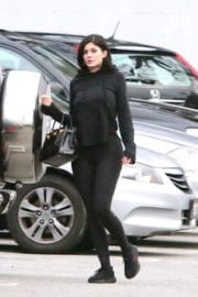 Kylie Jenner Stills in Tights Out for Lunch at Kabuki Sushi in Los Angeles