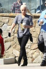Lady Gaga Stills Out and About in Malibu Photos