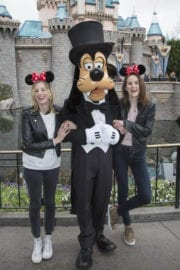 Laura Carmichael and Michelle Dockery at Disneyland Amusement Park in Anaheim