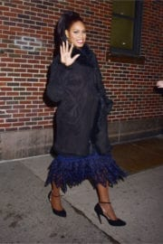 Laverne Cox Leaves Late Show with Stephen Colbert in New York