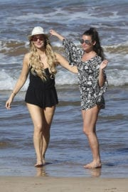 Lea Michele in Swimsuit Paddle Boarding in Hawaii Photos