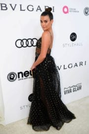 Lea Michele Photos at 25th Annual Elton John Aids Foundation's Oscar Party in Hollywood