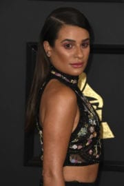 Lea Michele Stills at 59th Annual Grammy Awards in Los Angeles