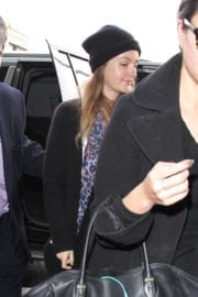 Leighton Meester With No Makeup at LAX Airport in Los Angeles