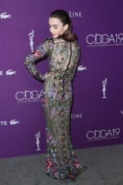 Lily Collins Stills at 19th Annual Costume Designers Guild Awards in Beverly Hills