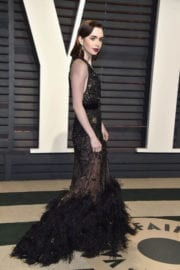 Lily Collins Stills at 2017 Vanity Fair Oscar Party in Beverly Hills