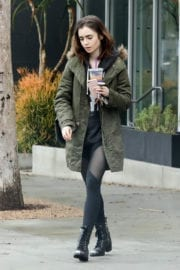 Lily Collins Stills Leaves a Gym in West Hollywood