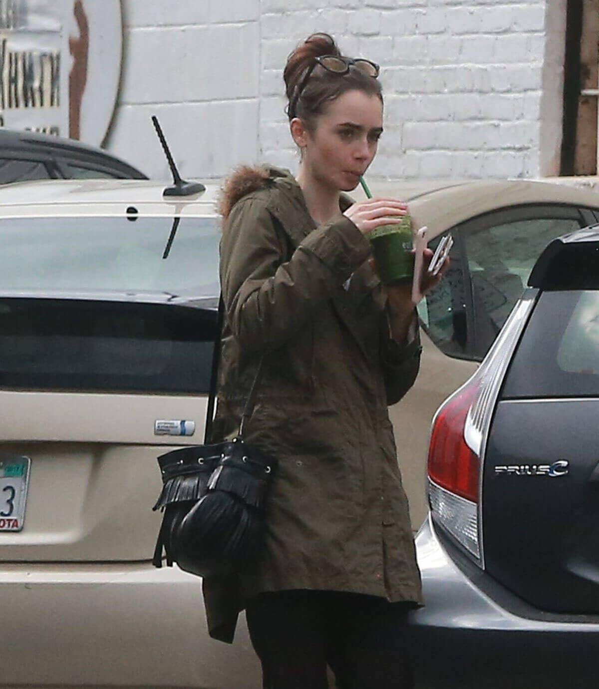 Lily Collins Stills Out and About in West Hollywood