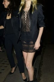 Lily Donaldson Stills at Burberry Fashion Show After Party in London