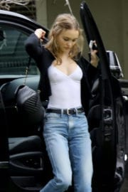 Lily Rose Depp Arrives at a Studio in Los Angeles